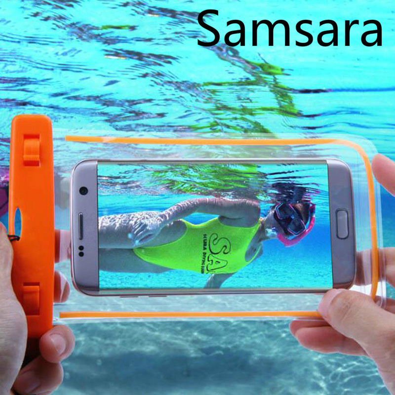 Universal Waterproof case for Samsung S8 S7 S6 Waterproof Bag Case For GALAXY NOTE 5 4 3 2 A5 A7 J5 J7 Underwater Light Box Case