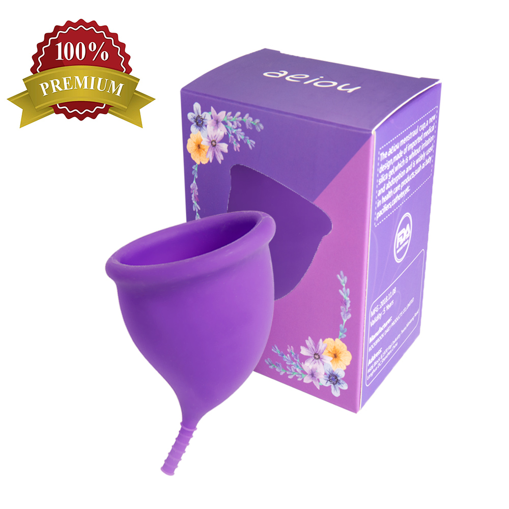 2019 New Design 100% Medical Silicone Menstrual Cup Feminine For Lady Coletor Menstrual Patent 100% Comfortable Woman Heath Care