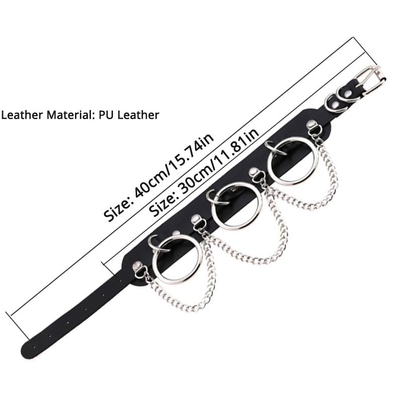 Leather Choker collar for women goth punk choker chain silver color harajuku Collar Sexy Vegan chocker bondage festival jewelry