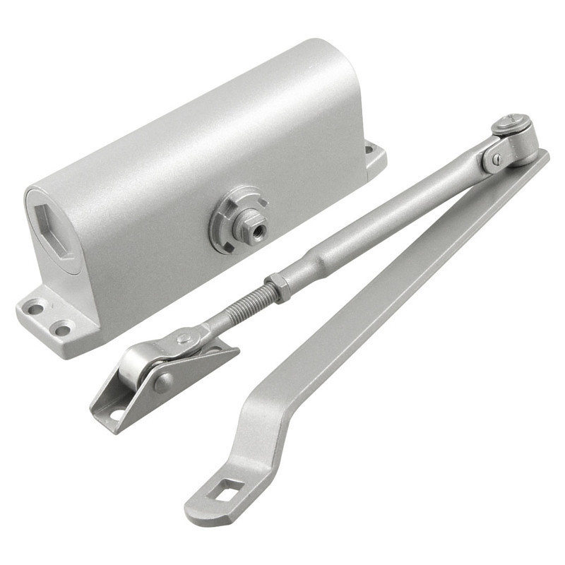 Automatic hydraulic arm door closer mechanical speed
