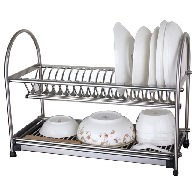 304 Stainless Steel Dish Rack Dish Drainer Drying Rack Cutlery