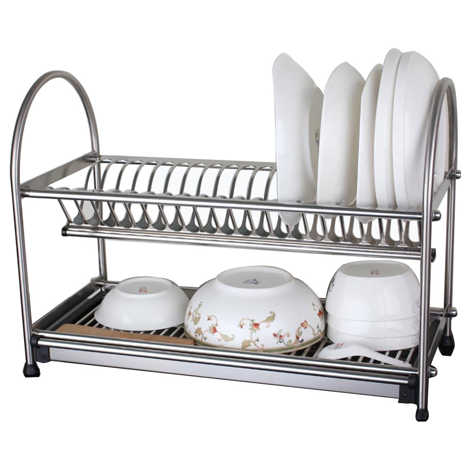 Tiers compact dish rack kitchenware dish drying rack dish drainer - 304 Stainless Steel Dish Rack Dish Drainer Drying Rack Cutlery Holder Utensil
