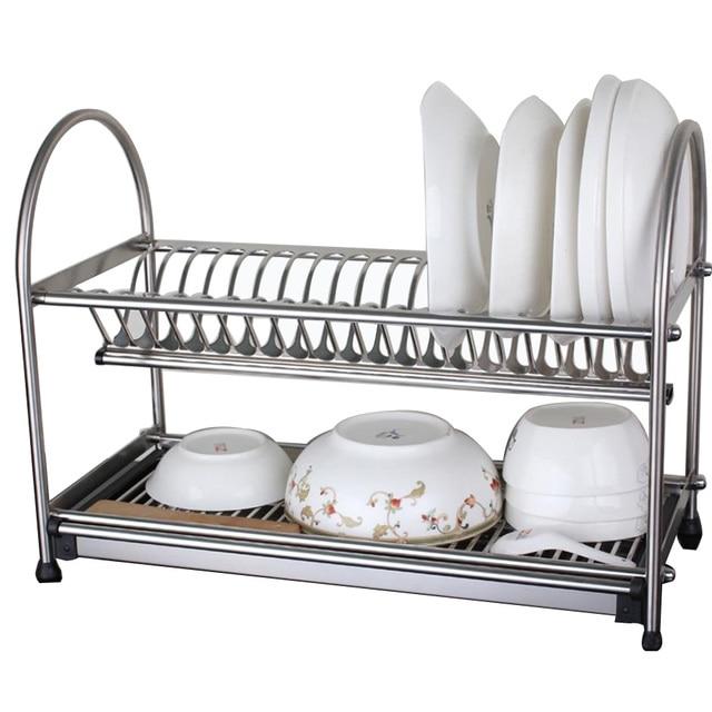 304 plato de acero inoxidable Rack plato escurridor de secado Rack  cubiertos titular de utensilio herramienta dae4d462a30f