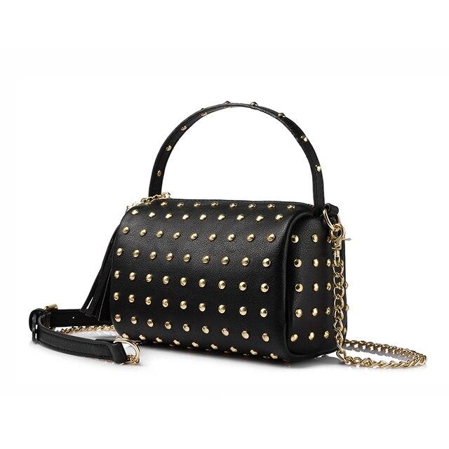 b29cda48d LOVEVOOK marca cadena bolsa de hombro para las mujeres pequeño bolso  monedero con remaches mujer borla