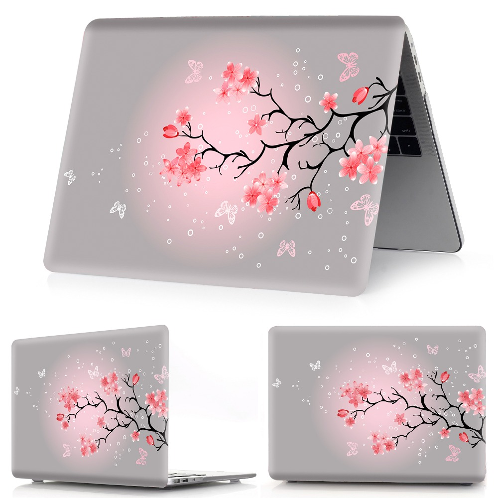 Image 4 - flower color printing notebook case for Macbook Air 11 13 Pro Retina 12 13 15 inch Colors Touch Bar New Pro 13 15  New Air 13-in Laptop Bags & Cases from Computer & Office