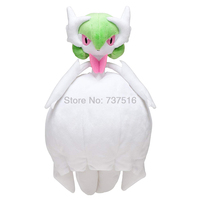 New Anime White Flowing lines and soft Mega Gardevoir Plush Large Size Stuffed Animals Doll Toys Gift 13.5
