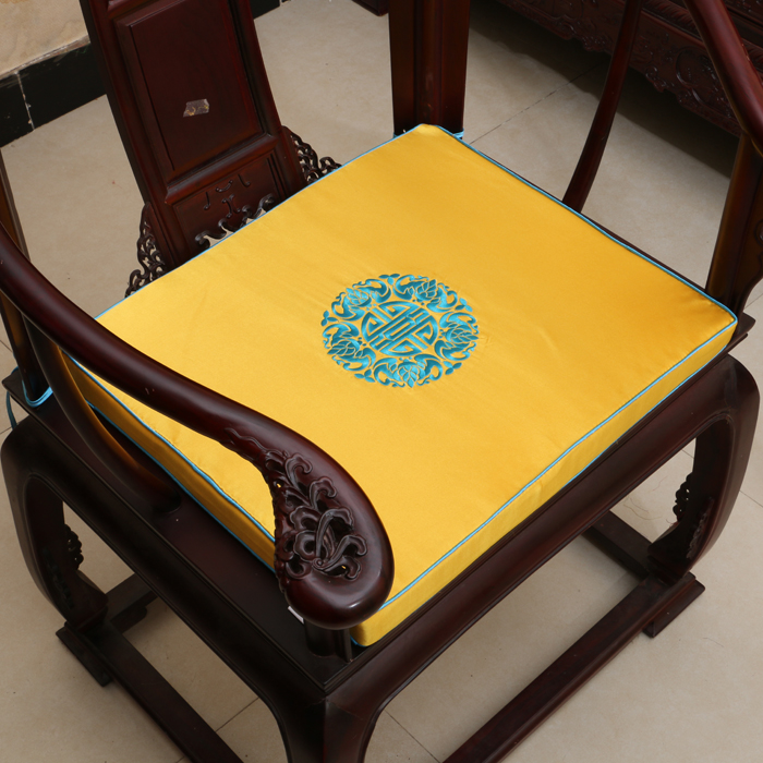 Fine Emboridered Joyous Seat Cushion High End Luxury Chinese Ethnic Style  Silk Brocade Thick Sponge Cushion For Sofa Seat Chair In Cushion From Home  ...