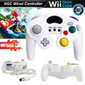 Wired Turbo Choque Analógico Game Controller gamepad Joystick joypad para GameCube NGC e Wii/WiiU