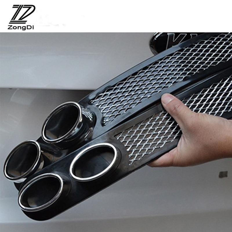 ZD 2pcs/set 3D Cool Car-Styling Carbon Exhaust Sticker For Citroen C5 C4 C3 Mini Cooper Opel Astra H G J Vectra C Saab Jaguar