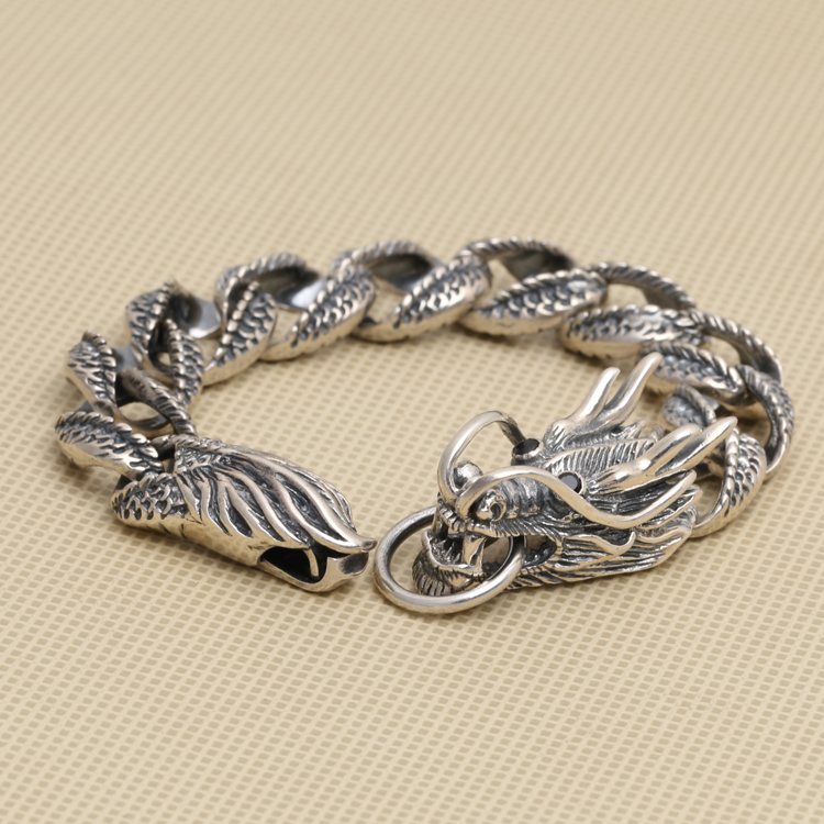 Handcrafted Thailand 925 Silver Dragon Bracelet Vintage Sterling Silver Dragon Bracelet Real Pure Silver Dragon Bracelet все цены