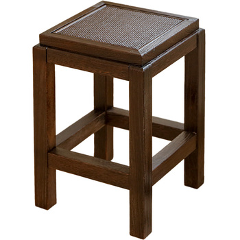 цены Japanese Antique Wooden Vintage Stool Chair Paulownia Wood Asian Traditional Furniture Living Room Portable Low Stand Stool