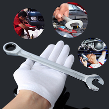 7mm Adjustable Clank Ratchet Wrench Spanner Tool Set Flexible Head Open End Keys With Spanners Ring Mini Torque