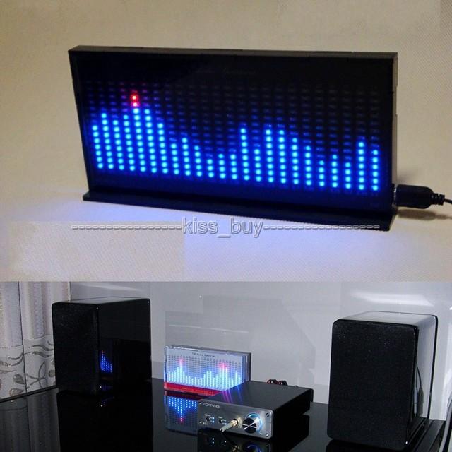 DIY ערכת AS1424 דיגיטלי מד רמת אודיו תצוגת LED מהבהב מוסיקה ספקטרום Analyzer מחוון עבור mp3 כוח מגבר שחור