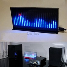 DIY KIT AS1424 cyfrowy miernik poziomu Audio wyświetlacz LED migający analizator widma muzycznego wskaźnik dla wzmacniacza mocy mp3 czarny