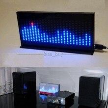 DIY KIT AS1424 digital Level Meter Audio LED Display Flashing Music Spectrum Analyzer indicator for mp3 Power amplifier black