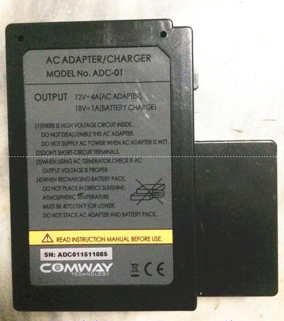 COMWAY originais máquina de solda de fibra Óptica splicer da fusão da fibra C6 C8 C9 C10 Adaptador AC carregador de Bateria ADC-01