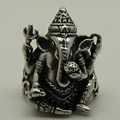 men/boy silver & black color punk rocky lucky king elephant brave warrior 316L stainless steel ring