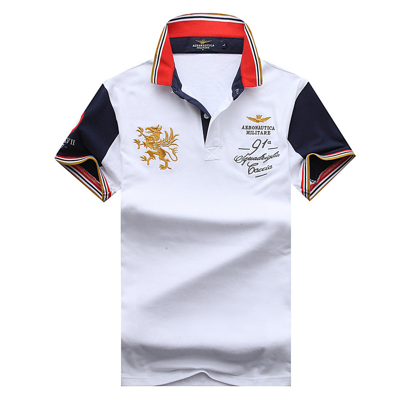 New Summer 2019 Men   Polo   Shirt Cotton Embroidery Lapels Short-sleeved Tees Male Color Matching Big Yards mens clothing