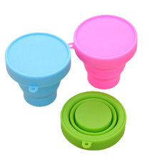Travel Folding Cup Camping Hiking Mini Retractable Silicone Cup Outdoor Travel Portable Cups Sport Accessories Supplies