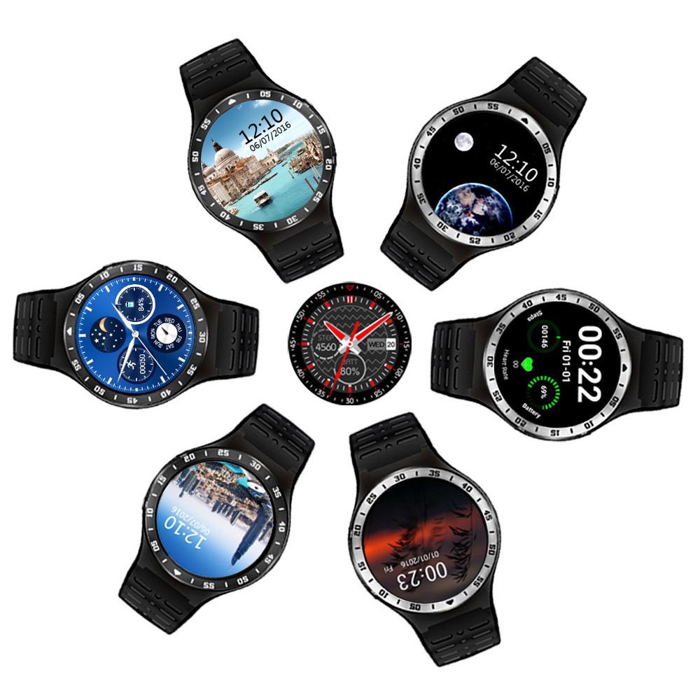 S99A 3G Smartwatch Phone 1.33'' Android 5.1 MTK6580 Quad Core 8GB ROM 2.0MP Camera WiFi Bluetooth Heart Rate Smart Watch PK KW88