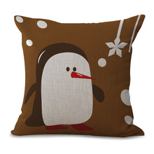 Christmas Style Cotton Linen Cushion Cover Home Decorative Pillow Cover