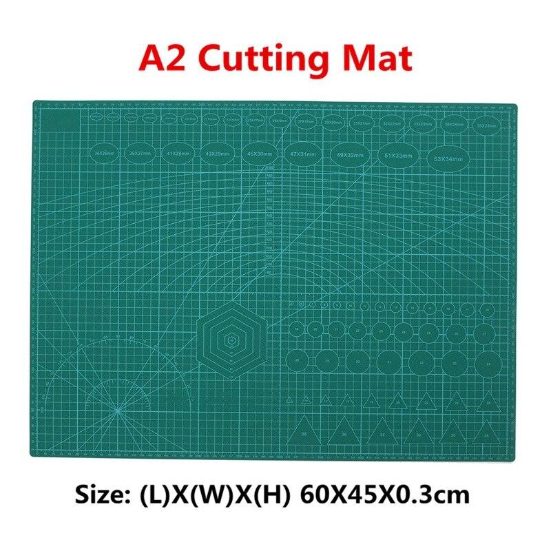 A2 PVC Pad antideslizante impreso doble auto curación estera de corte de acolchado Scrapbooking de Patchwork tela de papel artesanal herramientas