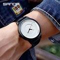 SANDA Топ люксовый бренд Мужские часы Бизнес Кожа Кварцевые водонепроницаемые часы пара спортивные часы reloj homre