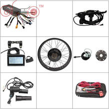 "Gratis Verzending ConhisMotor Ebike Conversion Kits 36 v 48 v 500 w Vet Band Achterwiel 20 ""24"" 26 ""Controller LCD3 Display PAS Rem(China)"