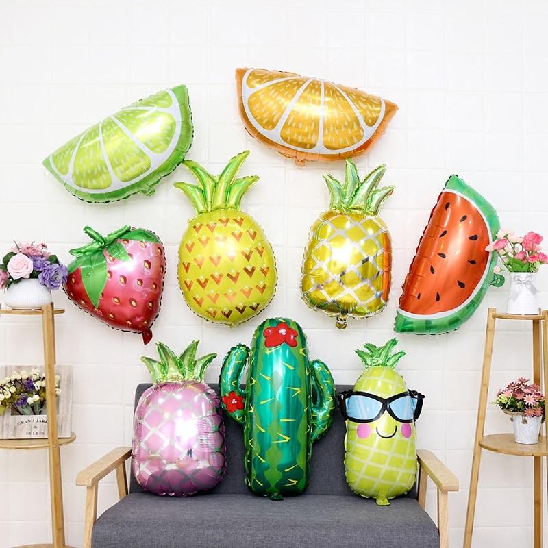 1pcs Icecream/Pineapple/donut Foil Balloon happy Birthday balloon wedding Decoration Hawaiian theme party supplies