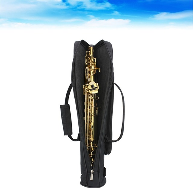 Good Professional Brand New Portable durable straight tube soprano saxophone Gig Bags sax Case Cover soft padded backpack strap