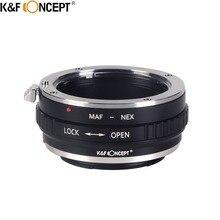K & F CONCEPT Camera Lens Adapter Ring Pour Konica Minolta AF MA lentille Sur Pour Sony e-mount NEX-3 NEX-5N NEX-5R NEX-6 NEX-7 Caméra
