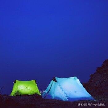 3F UL LanShan 2 Green Ultralight Tent 3 Season Professional 15D Silnylon Rodless Tent 5