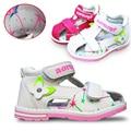 В продаже 1 пара марка дети кожаные сандалии девушки ботинок, Супер качество дети открытый ортопедической обуви
