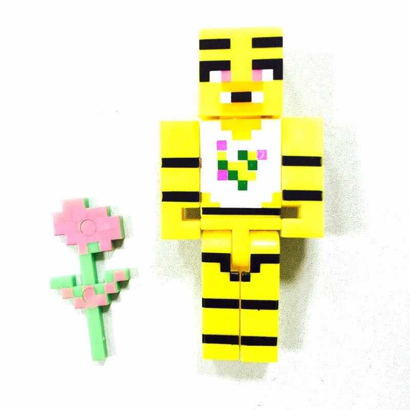4pcs/set Minecraft Toys Five Nights At Freddy's 4 FNAF Foxy Chica Bonnie  Freddy Action Figures Gift Toys For Children #E