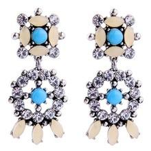 New Arrival Fashion Luxury Brand Vintage Dangle Earrings Ethnic Romantic Clear Crystal Drop Earrings For Women Charm Jewelry