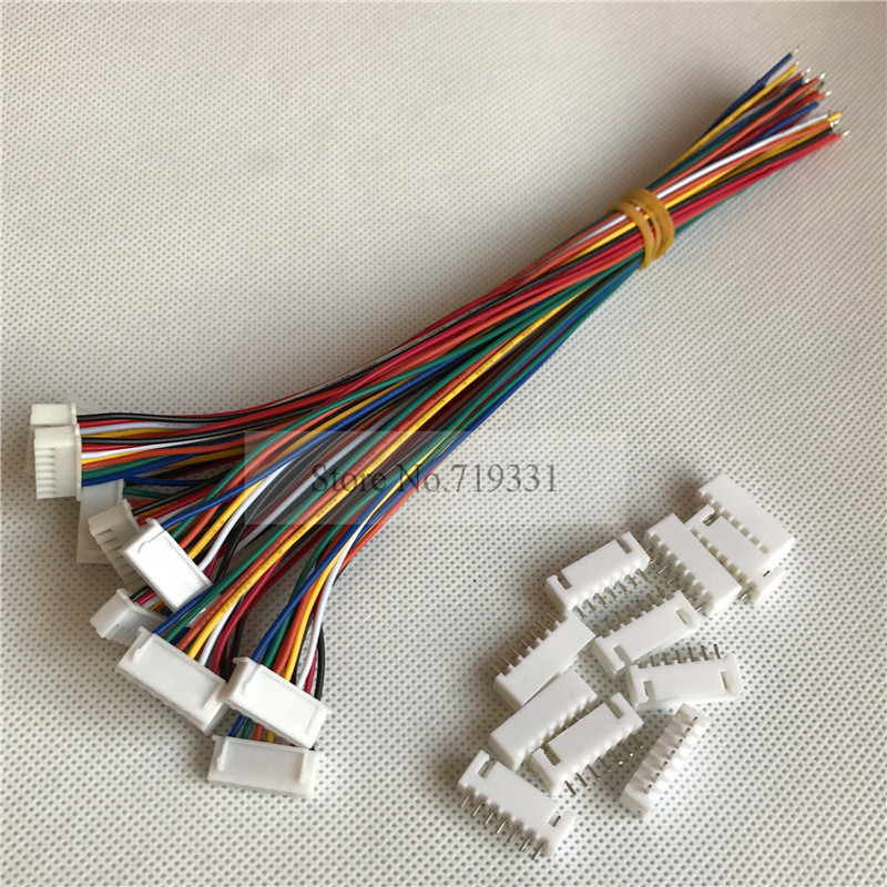 50sets Mini Xh 2 5mm 7pin Cable 2 5 7 Pin Connector Plug