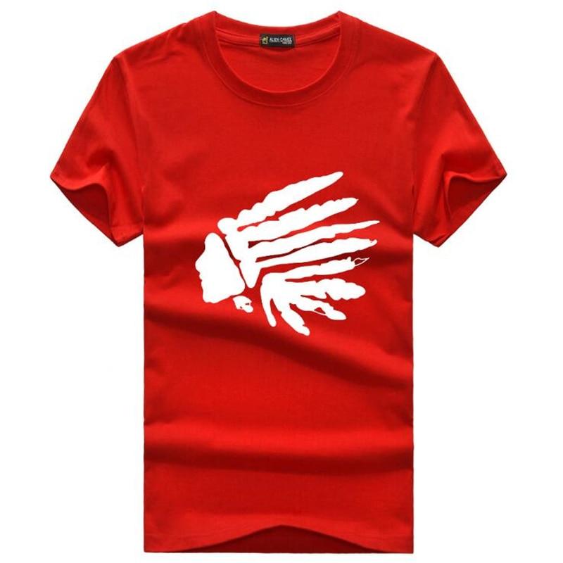 Marque design mode mens indiens imprimer t shirts 2019 nouvel été - Vêtements pour hommes - Photo 1
