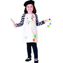 어린이 어린 소녀 재능있는 아티스트 전문 의류 화가 멋진 드레스 할로윈 코스프레 카니발 의상