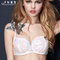 Sexy lace white gauze of ultra-thin perspective lingerie cup autumn new clients without sponge