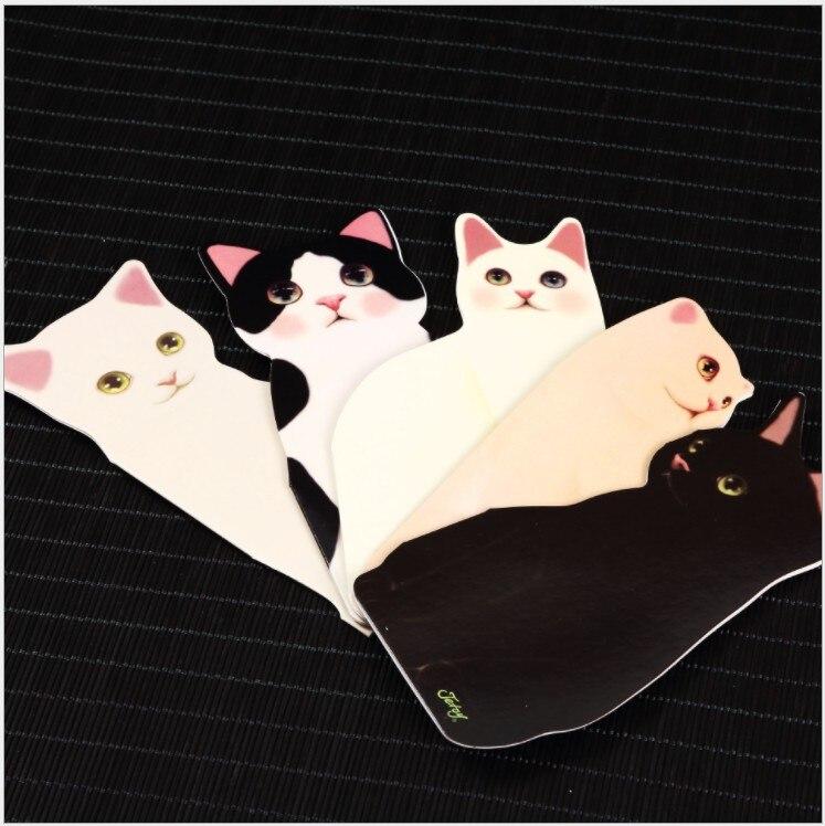 Free Shipping 50pcs Children Greeting Card 3d Cat Birthday Card