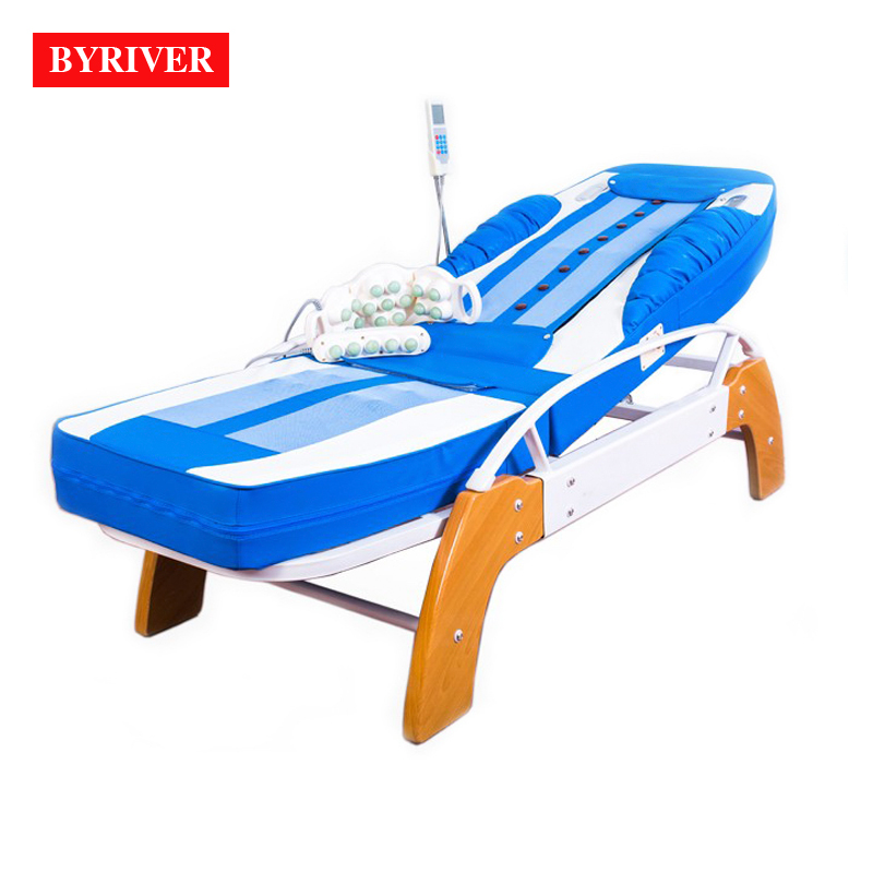 BYRIVER Factory Wholesale Therapy Center Jade Massage Bed Reflax Shiatsu Full Body Massager Equipment 5+4 jade roller pop relax electric vibrator jade massager light heating therapy natural jade stone body relax handheld massage device massager