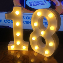 Chicinlife 2Pcs 18/30/40 Numbers LED String Night Light Birthday Party Standing Hanging Adult Party Anniversary Decor Supplies