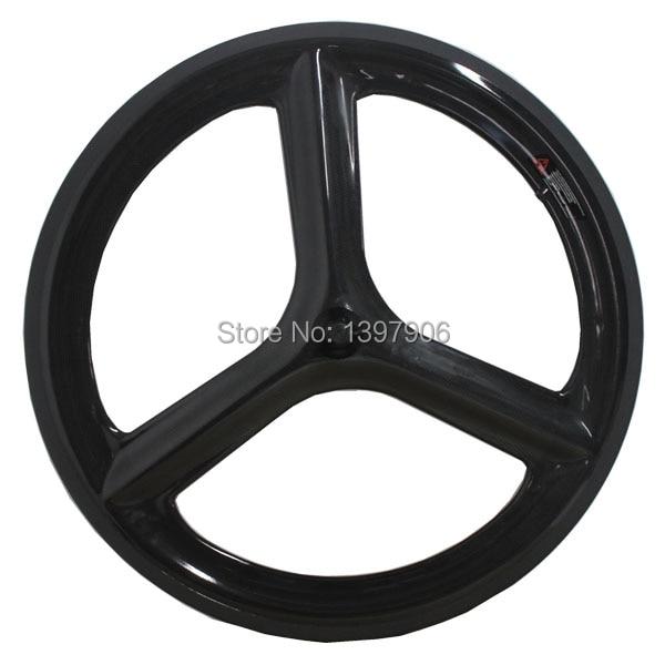 Spor ve Eğlence'ten Bisiklet Tekerleği'de Oem karbon bisiklet tekerlek yol bisikleti için 700c tri konuşmacı tekerlek perçini tekerlekler yol bisikleti siyah renk özel novatec hub title=