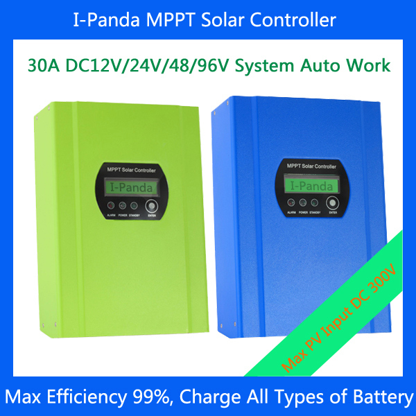Freeshipping 30A LCD MPPT solar charger controller 12V/24V/48V/96V auto work for rechargeable battery, 96V 30A solar generator