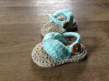 Crochet Baby Sandals, Baby Flip Flops, Crochet Baby Shoes Sizes 0-6 Months and 6-12 Months  Baby Shoes