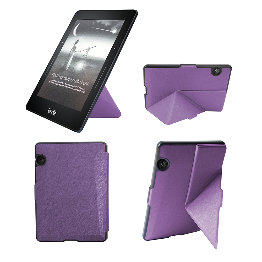 Slim Cover Case For Amazon Kindle Voyage 6 Inch EReader Transformer PU Leather Case