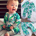 New Infant Baby Boy Girl Romper Toddler Jumpsuit  Clothes Bamboo Leaves