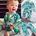 Novo Infantil Do Bebê Da Menina do Menino Romper Criança Macacão Roupas de Folhas De Bambu
