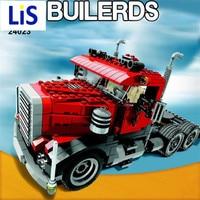 Lis Lepin 24023 Yaratıcı Değişen Serisi 3 in1 Kamyon Set Çocuk Eğitim Yapı Taşları Tuğla Oyuncaklar Modeli Hediye
