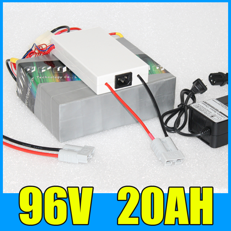 96V 20AH Lithium Battery Pack , 109.2V 2000W Electric bicycle Scooter solar energy Battery , Free BMS Charger Shipping free customs taxes super power 1000w 48v li ion battery pack with 30a bms 48v 15ah lithium battery pack for panasonic cell